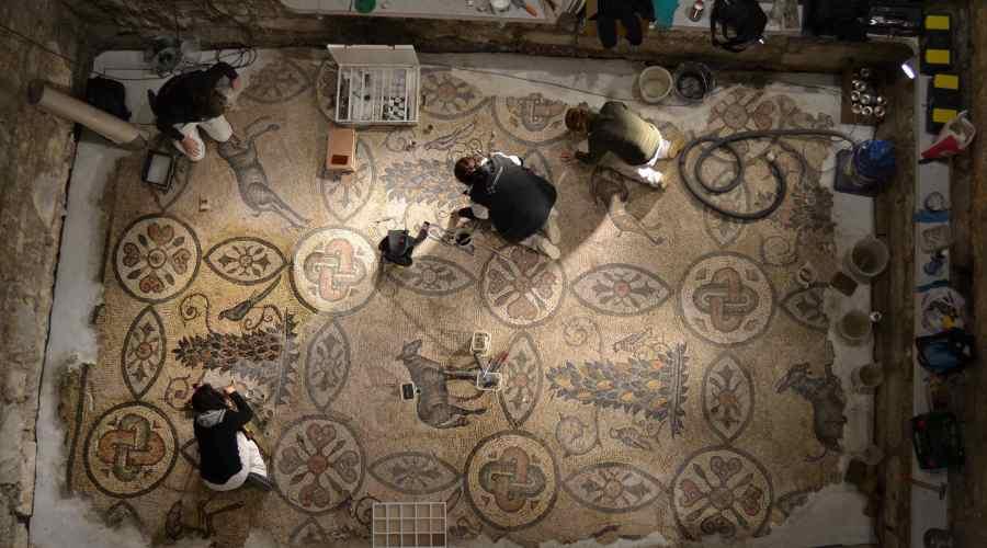 Aquileia_Restauro mosaici del Campanile (studio GTRF)