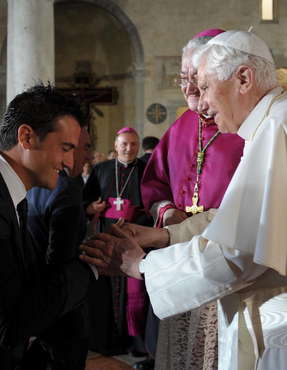 L'Arch. Gianni Naoni incontra il Santo Padre Benedetto XVI ad Aquileia nel Maggio 2011