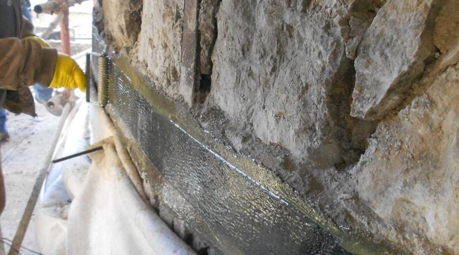 Rezzato_Consolidamento Strutturale in fibre di carbonio della Fornace di Calce (studio GTRF)